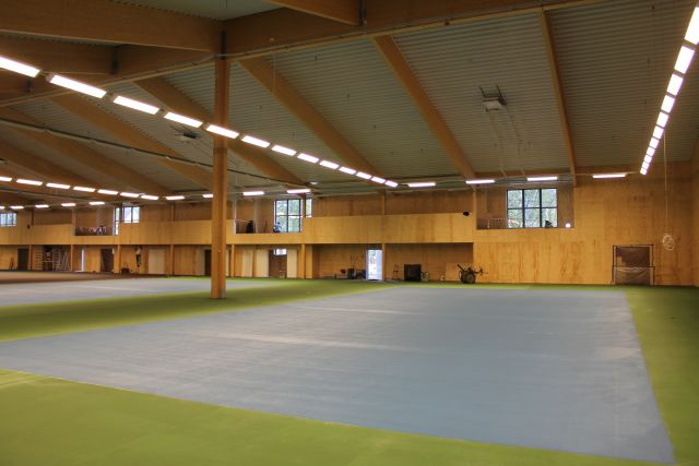Tennis hall from timber frame panels delivered by WWL Houses